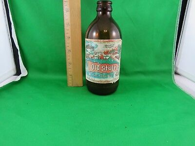Vintage Old Style Stubby Beer Bottle