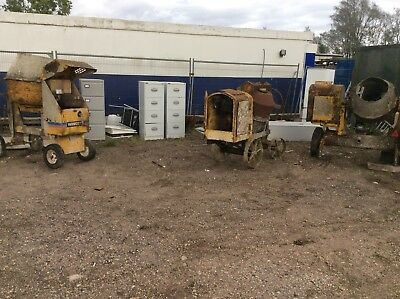 Concrete Mixers Three Two With Lister Engines One With A Petter Engine.