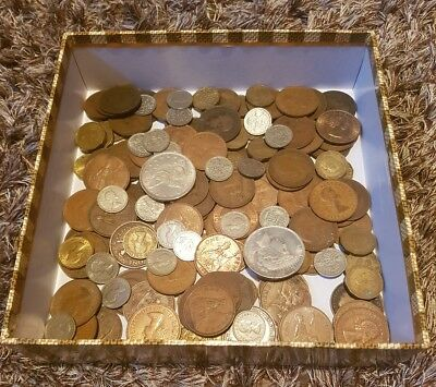 Job Lot Of Old Coins Including 2 American Copy Coins - Lot B