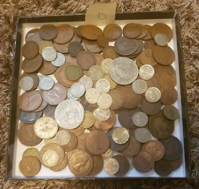 Job Lot Of Old Coins Including 2 American Copy Coins - Lot D