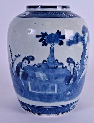 good 19thc chinese blue and white porcelain vase - chinese jarlet antique jar