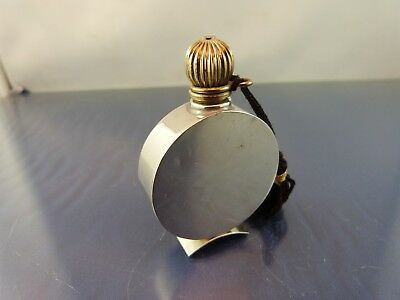 VINTAGE PLAIN DRESSER TOP PERFUME BOTTLE screw cap by TOWLE STERLING  868