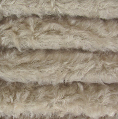 "1/4 yd 785S/C Silver Grey INTERCAL 3/4"" Med. Dense Curly German Mohair Fabric"