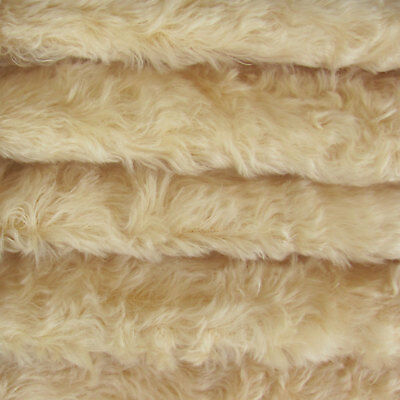 "1/4 yd 785S/C Buttercup INTERCAL 3/4"" Med. Dense Curly German Mohair Fabric"