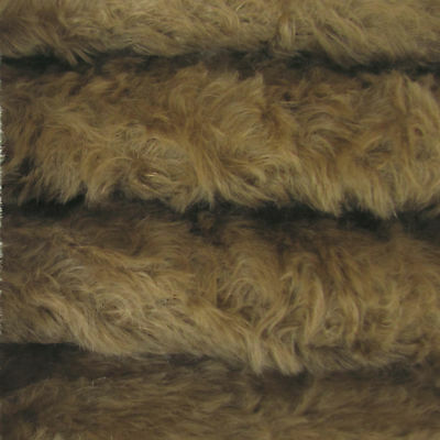 "1/4 yd 785S/C Cocoa INTERCAL 3/4"" Med. Dense Curly German Mohair Plush Fabric"