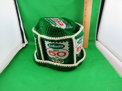 Unique Hand Made Labatt's Biere 50 Ale Crocheted Hat