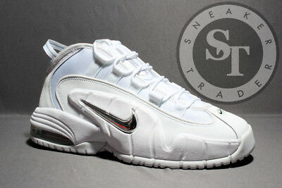 NIKE AIR MAX Penny 685153 100 White Metallic Silver Ds Size: 10.5