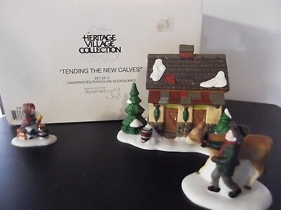 "Dept. 56, Dickens Village Accessory, ""Tending The New Calves"" #58395"