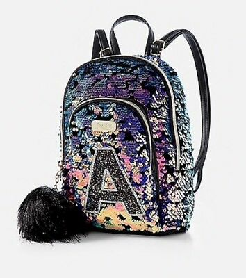 NWT Justice Flip Sequin Initial MINI Backpack!  You Choose Letter!