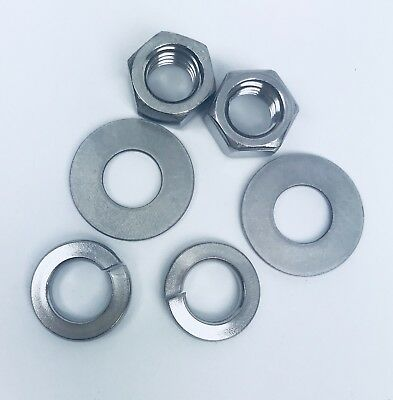 "Lot Of 160 Sexauer 3/8"" Zinc-Plated Nuts, Washers And Lock Washer(6 Pieces Pack)"