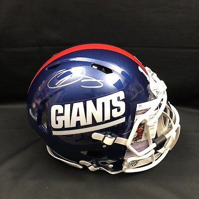 the best attitude c4f4b f2459 ODELL BECKHAM FULL Size NY Giants Color Rush Proline Helmet- JSA Certified
