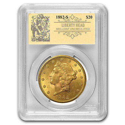 1882-S $20 Liberty Gold Double Eagle BU PCGS (Prospector Label) - SKU#163285