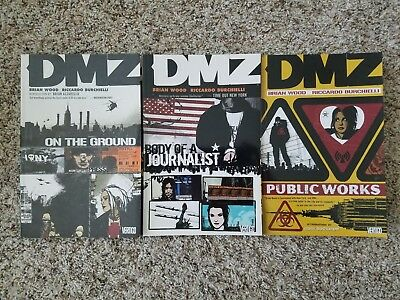 DMZ - On the Ground - Body of a Journalist - Public Works - Volumes 1, 2, & 3 -