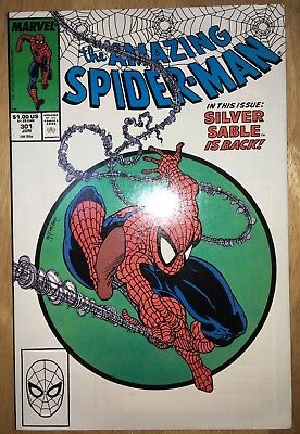 Amazing Spider-Man #301 McFarlane Cover Silver Sable Appearance