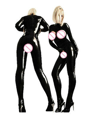 .Gothic Domina, Latex Catsuit, Brustfrei, Latexcatsuit,String Schwarz, Gr. S-4XL