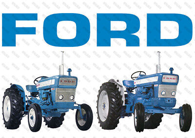 Ford 3000 Dexter & 5000 Major  - Poster (A3)