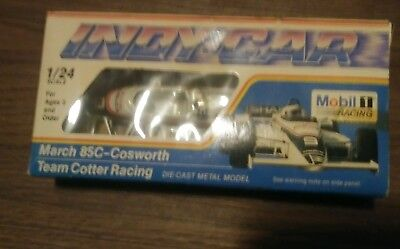 Brand New Mobil 1 Indy Car March 85C-Cosworth Team Cotter Racing Die Cast Metal