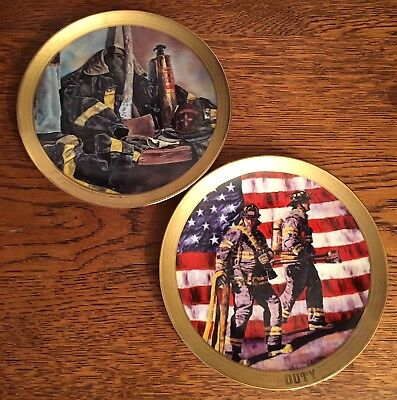 2 Bradford Exchange Visions Of Valor Plates Duty And Honor