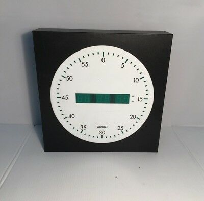 "Leitch UDC-5212-G Universal Digital Time Display Wall Clock 12"" Broadcast Analog"