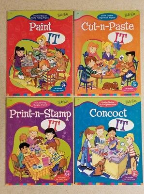 Walter Foster Incredible Kids Craft-It Series Lot of 4 Books 8+ Cut Paste Paint