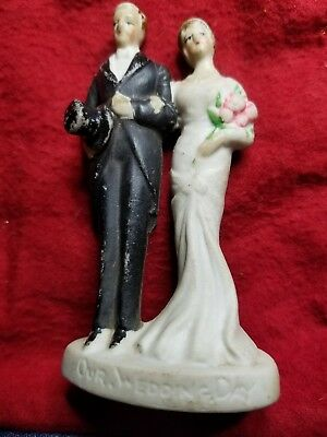Our Wedding Day Cake Topper Ladies Bridal Figurine   Made in Japan From 1920