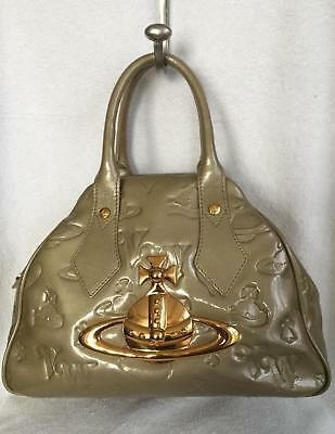 b999aed54a Authentic VIVIENNE WESTWOOD Yasmine Orb Logo Light Green Patent Leather  Hand Bag