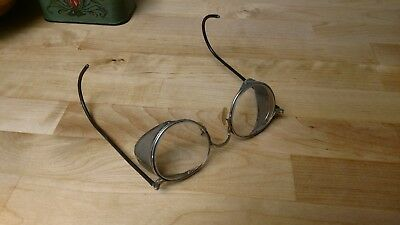 Antique Bausch & Lomb FUL-VUE 23 Safety Glasses / B&L Goggles w/Case ~ STEAMPUNK