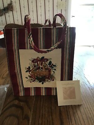 Longaberger 2005 Holiday Tote Bag