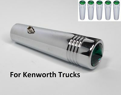 """(Set/5) for Kenworth Green Toggle Switch Extension 2-1/4"""" Long Chrome Metal"""