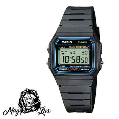 Orologio Collection Vintage Casio F-91W Classico Digitale Unisex Nero