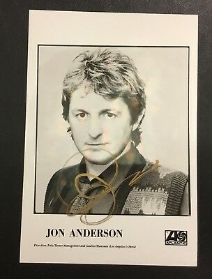 ORIGINAL JON ANDERSON Yes SINGER SIGNED AUTOGRAPHED PHOTO Rock & Roll HOF RARE