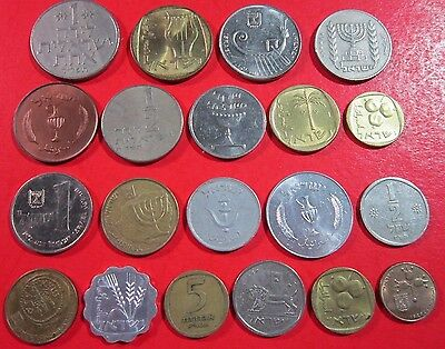 Israel. Lot Of 20 Israeli Coins. Circulated To Uncirculated. See Pics.