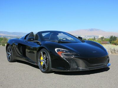 650S 2dr Conv Spider 2015 McLaren 650s, Black with 3,375 Miles available now!
