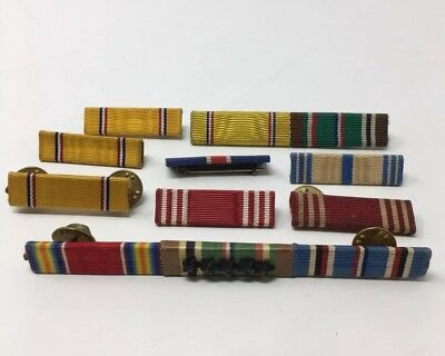 Military Ribbon Bar Vintage WW2 Lot Of 9 WWII 18-1818