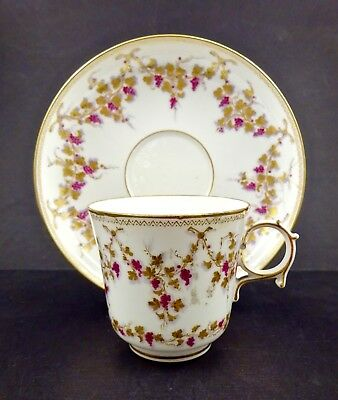 Antique Sevres Tea Cup & Saucer, Circa 1853 Hand Painted