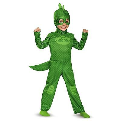 NEW PJ Masks Gekko Lizard size S 2T Toddler Costume Tail Headpiece Disguise