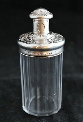 Antique Gorham sterling silver cut crystal Vanity Dresser Bottle Jar