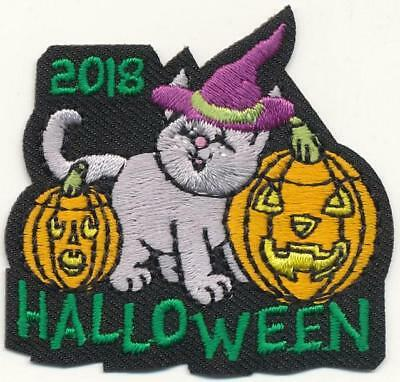 Girl Boy Cub HALLOWEEN 2018 Cute '18 Party Patches Crests Badges SCOUTS GUIDES