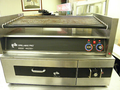 Star Grill Max Pro 50S Hot Dog Sausage Roller With Star Bun Warmer Sst-45Hc