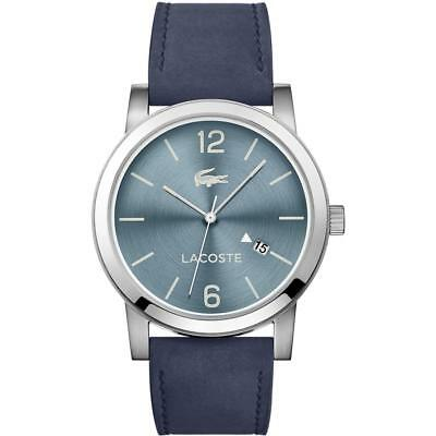 Lacoste Men's Metro 40mm Blue Leather Band Steel Case Quartz Watch 2010925