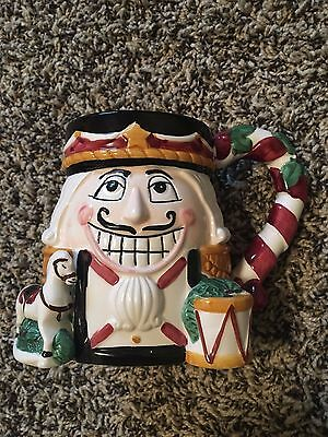 'Tis the Season NUTCRACKER Christmas Lge Sze Holiday Mug Handpainted Ceramic