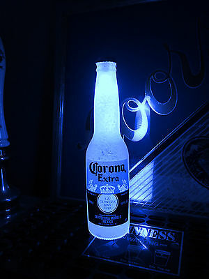 Corona Blue 12 oz Beer Bottle Light LED Pub Bar Pool Man Cave Neon Bar