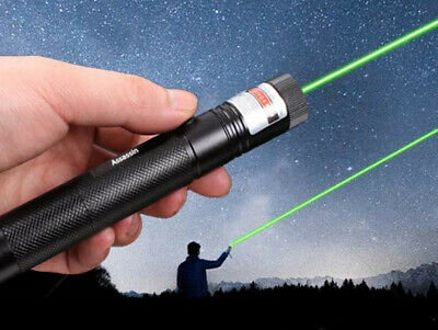 50Mile Assassin Green Laser Pointer Pen 18650 532nm Astronomy Lazer Beam Light
