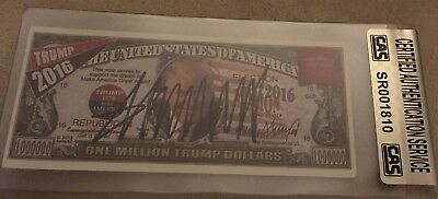 PRESIDENT DONALD TRUMP Autograph Trump Dollar ~ Certified & Slabbed by CAS