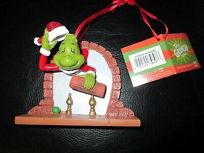Rare Dept 56 How the Grinch Stole Christmas Ornament Chimney Enesco Fireplace