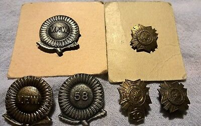 6  Older VFW Veterans Of Foreign Wars  Hat / Lapel Pins One 10 Year, One 1958