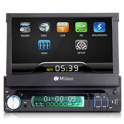 """7""""Single 1 Din Car Stereo Radio DVD Player Touchscreen Eonon Indash AUX IN Touch"""