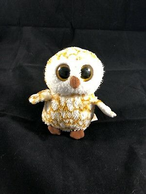 "TY BEANIE BOO 2013 SWOOPS THE OWL 6"" PLUSH RETIRED Stuffed Animal Toy"