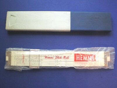 Hemmi 254WN Slide Rule. Duplex. Bamboo. 23 Scales. Scarce in USA. Excellent.