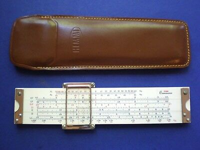 "Hemmi No.143 ""Commerce"" Duplex Pocket Slide Rule. Celluloid on Bamboo.19 Scales"